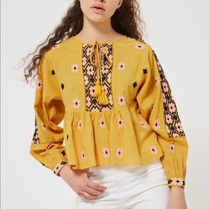 TOPSHOP Embroidered Blouse